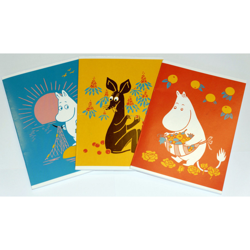 Moomin 3-Pack of Notebooks 80 Lined Pages