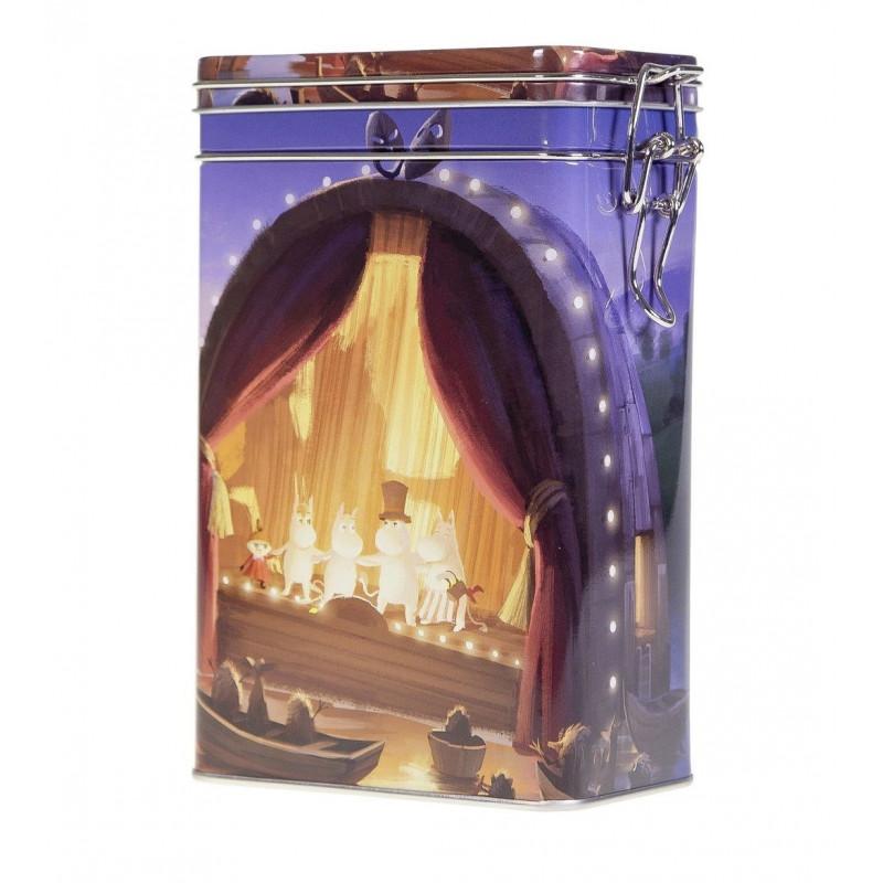 Moomin Coffee Tea Tin Box Animated Film Theater L