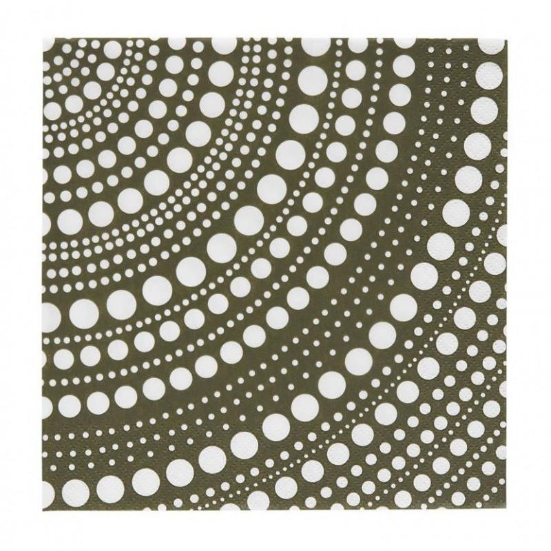 Kastehelmi Paper Napkins Moss Green 33 cm