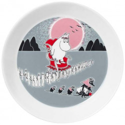 Moomin Plate 19 cm Moomin New Adventure Move Muutto