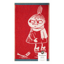 Moomin Terry Towel Little My Skating Red 30 x 50 cm Finlayson