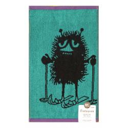 Moomin Terry Towel Stinky Skiing Blue-green 30 x 50 cm Finlayson