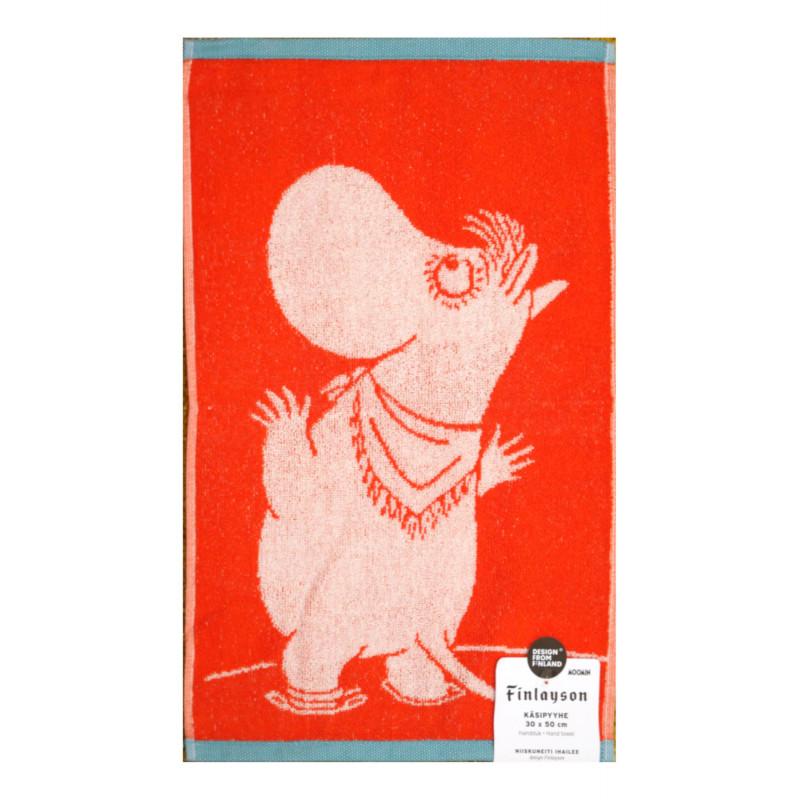 Moomin Terry Towel Snorkmaiden Orange 30 x 50 cm Finlayson