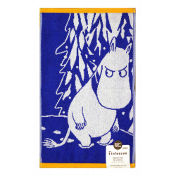 Moomin Terry Towel Moomintroll and Snow Blue 30 x 50 cm Finlayson