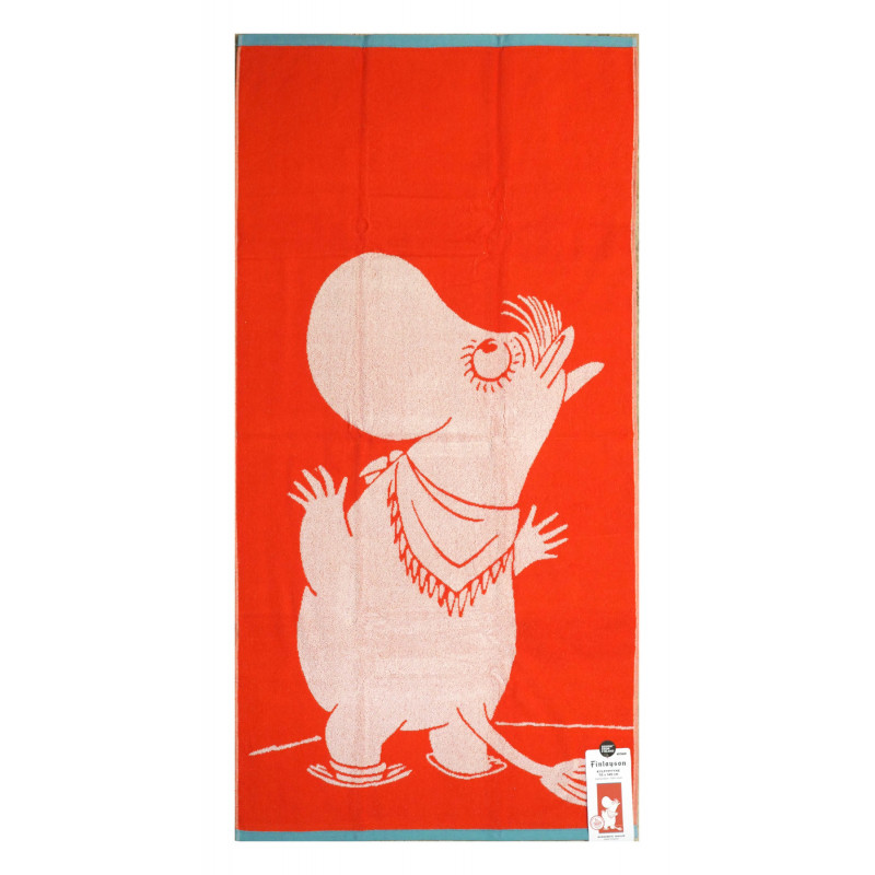 Moomin Terry Towel Snorkmaiden Orange 70 x 140 cm Finlayson