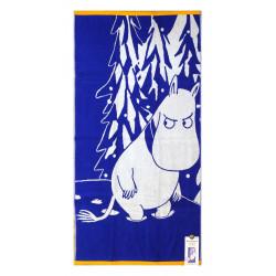 Muumi Kylpypyyhe Muumipeikko Ja Lumi Sininen 70 x 140 cm