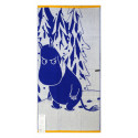 Moomin Terry Towel Moomintroll and Snow Blue 70 x 140 cm Finlayson