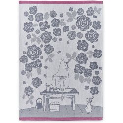 Moomin Kitchen Tea Towel Set of 2 Moominmamma Roses 50 x 70 cm