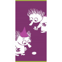 Moomin Bath Towel Thingumy and Bob Fuchsia 70 x 140 cm