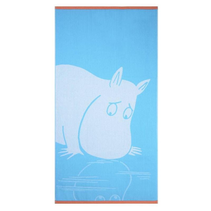 Moomin Bath Towel Moomintroll Turquoise 70 x 140 cm Finlayson