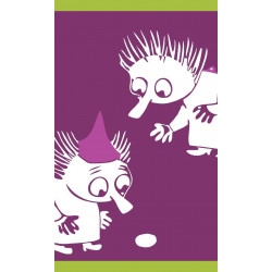 Moomin Hand Towel Thingumy and Bob Fuchsia 30 x 50 cm