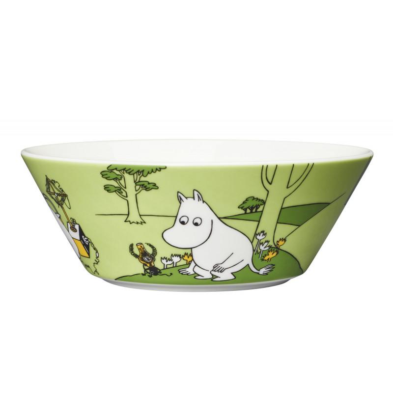 Moomin Bowl Moomintroll and the Martian Grassgreen 15 cm Arabia