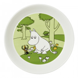 Moomin Plate Moomintroll and the Martian Grassgreen 17 cm Arabia