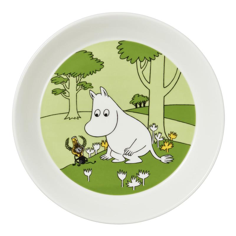Moomin Plate Moomintroll and the Martian Grassgreen 17 cm Arabia