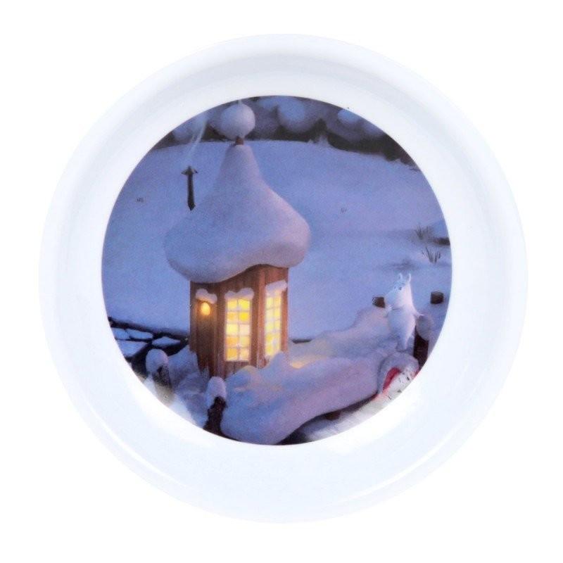 Moomin Animation Teabags Melamine Plate Winter Bath House