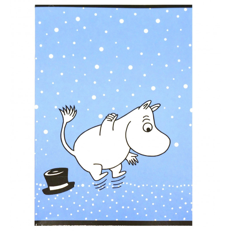 Moomin Notebook Moomintroll Blue A4 40 Squared Pages 7x7 mm