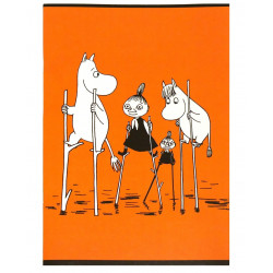 Moomin Notebook Orange A4 40 Squared Pages 7x7 mm