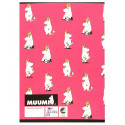 Moomin Notebook Snorkmaiden Pink A4 40 Squared Pages 7x7 mm