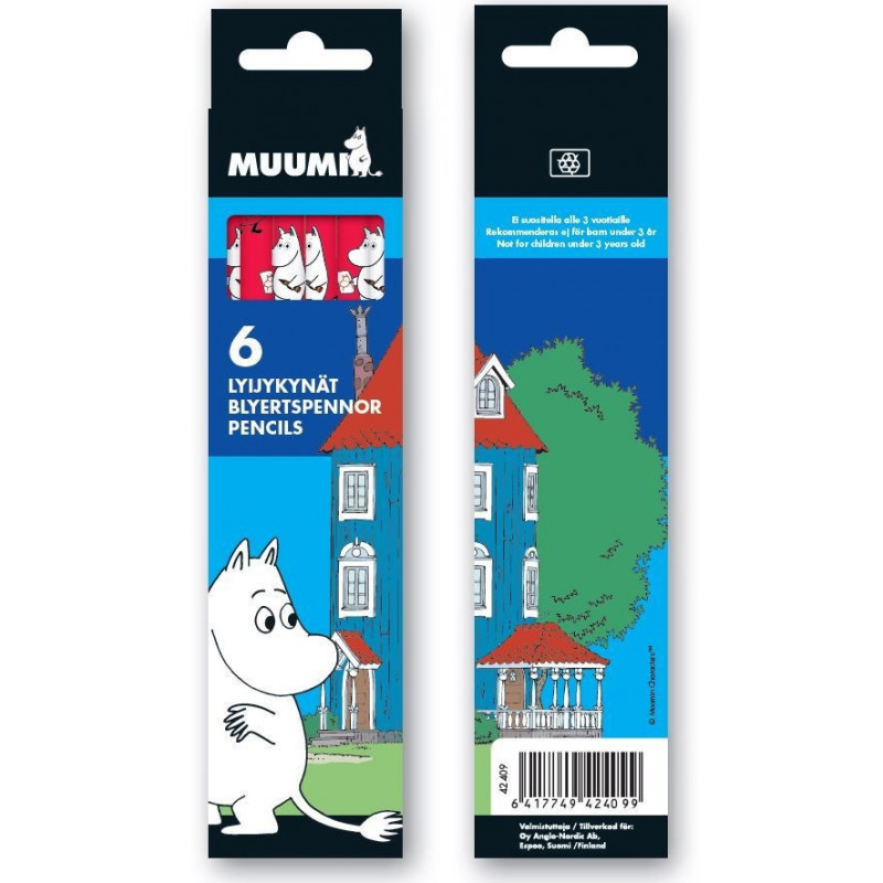 Moomin Pencil Box Set of 6 Anglonordic