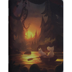Moomin Animation Night Forest Small Notebook 9 x 12 cm Putinki