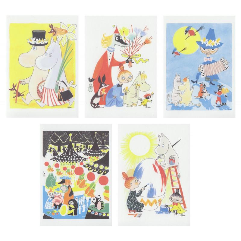 Moomin Easter Postcard Set of 5 Putinki