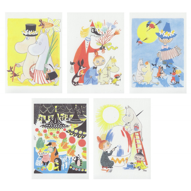 Moomin Easter Postcard Set of 5 Putinki