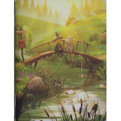 Moomin Animation Summer Bridge Small Notebook 6 x 12 cm Putinki