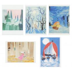 Moomin Tove 100 Postcard...