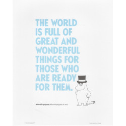 Moomin Poster Blue Text...