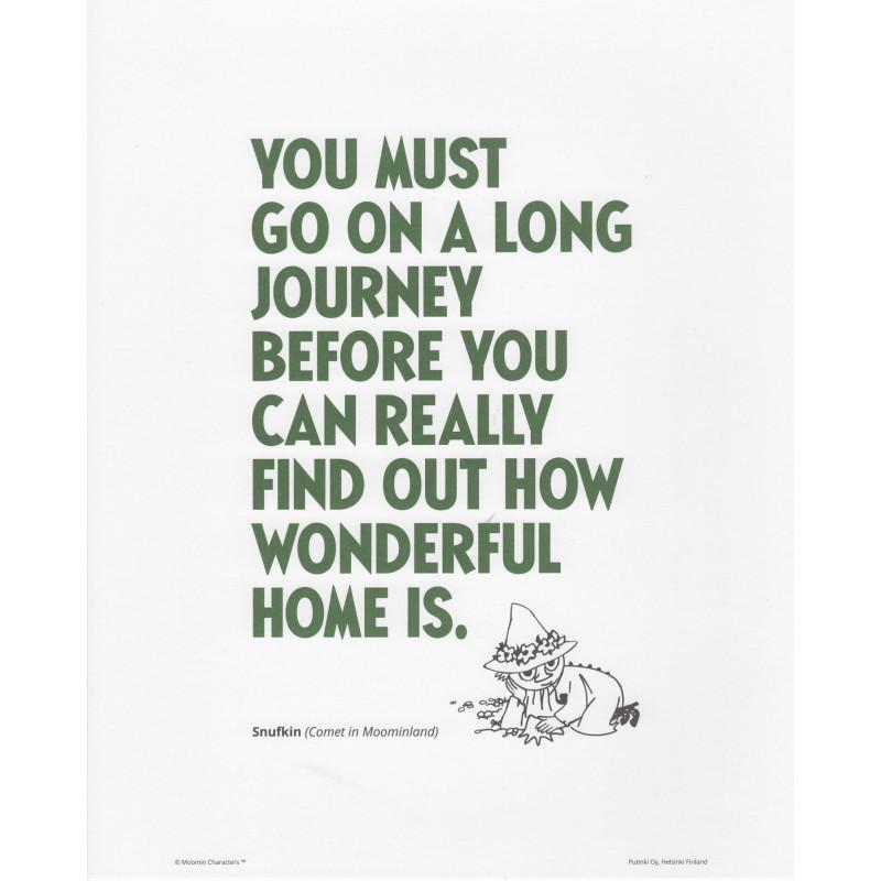 Moomin Poster Green Text Snufkin 24 x 30 cm Putinki