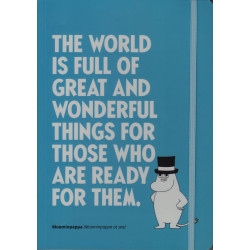 Moomin Notebook 128 Faintly Ruled/Blank Pages Snufkin Citation A5 Putinki