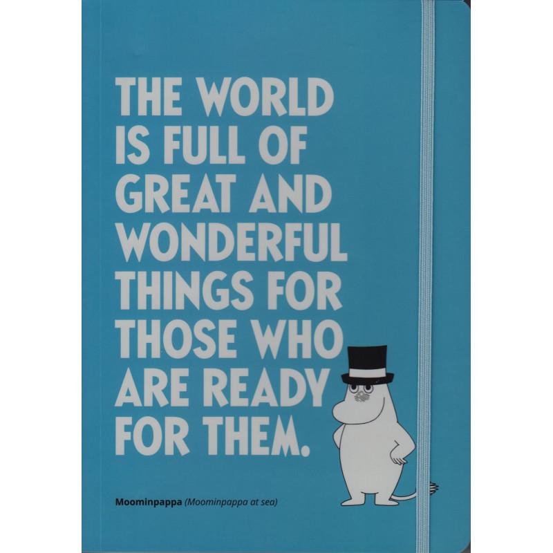 Moomin Notebook 128 Faintly Ruled/Blank Pages Snufkin Citation A5 Putinki