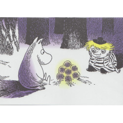 Moomin Greeting Card with Envelope Bonfire Putinki