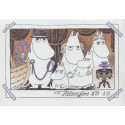 Moomin Greeting Card with Envelope Family Portret Putinki