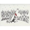 Moomin Greeting Card Letterpressed Moomintroll and Sniff Putinki