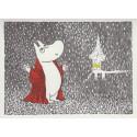 Moomin Greeting Card Letterpressed Illuminated Swimming House Putinki