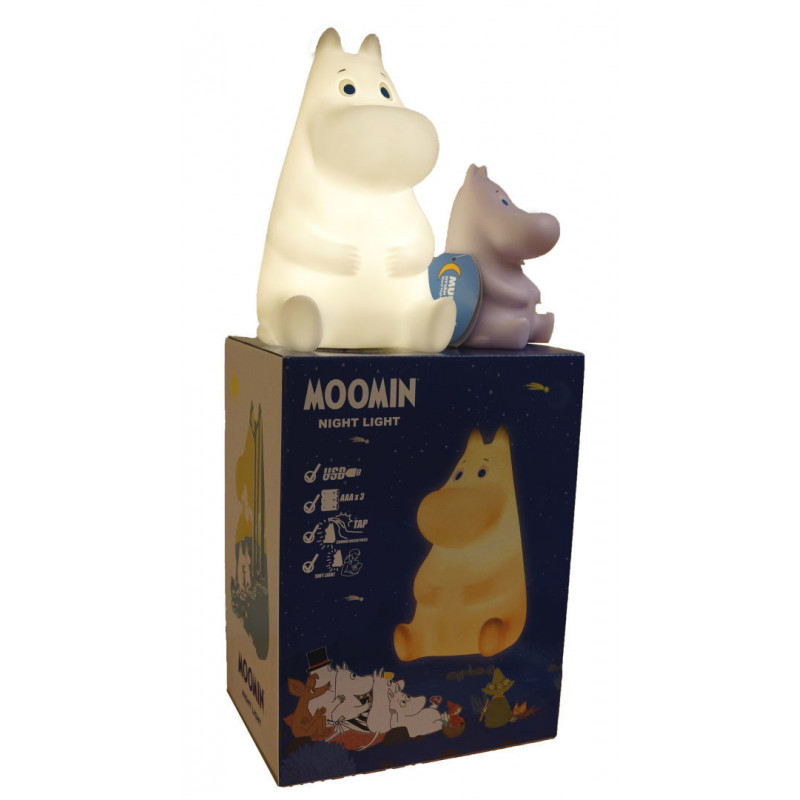 Moomin Good Night Light Moomintroll White 22 cm USB and Battery in Box