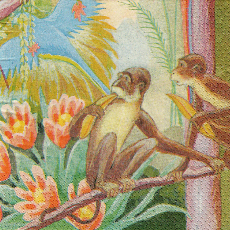 Finlayson Paper Napkins Parrot Lemon Yellow 20 pcs 33 cm