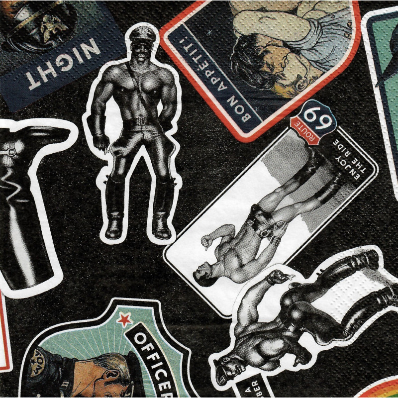 Finlayson Paper Napkins Tom of Finland Hook up 20 pcs 33 cm