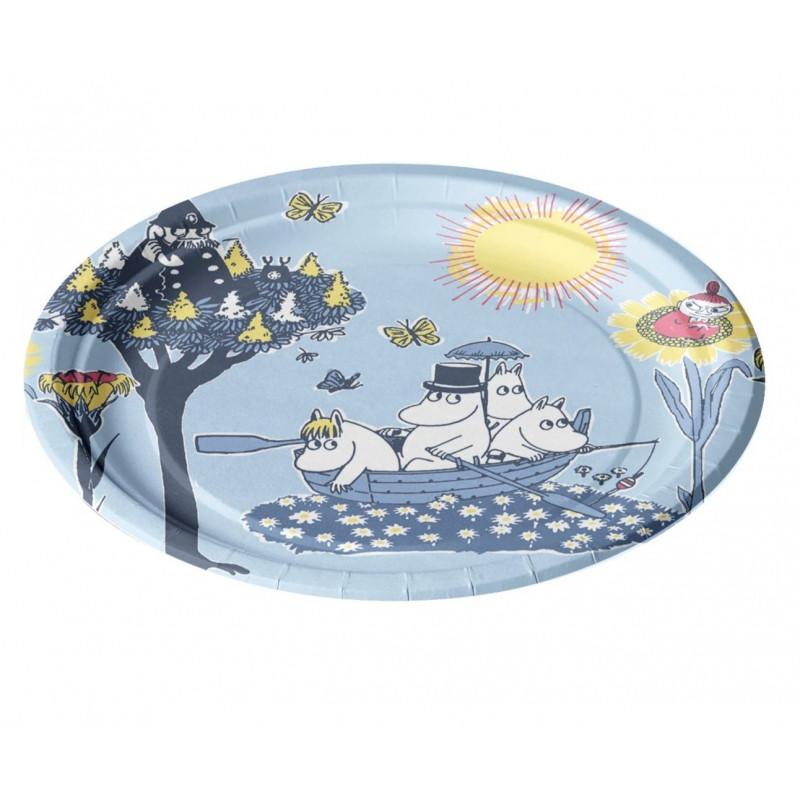 Moomin Paper Plates Pellinki Blue 12 pcs 22 cm