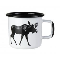 Muurla Nordic Enamel Mug 0.37 L Moose