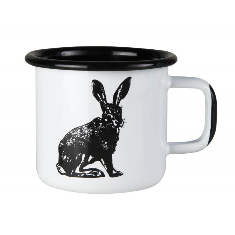 Muurla Nordic Enamel Mug 0.37 L Hare