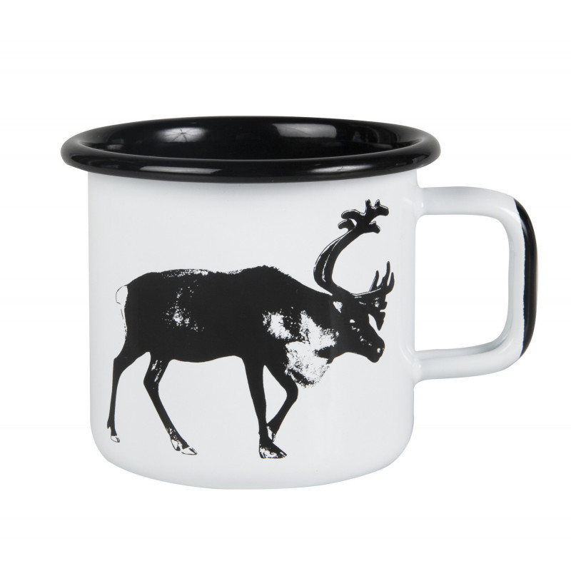 Muurla Nordic Enamel Mug 0.37 L Reindeer