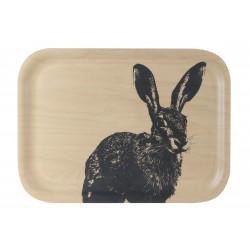 Muurla Nordic Tray 27 X 20 cm Hare