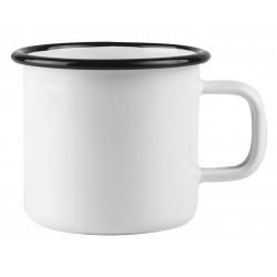 Muurla Basic enamel Mug White 0.37 L