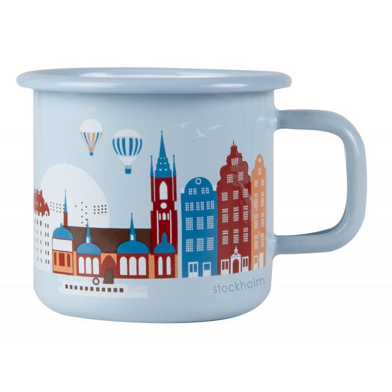 Muurla Enamel Mug Stockholm 0.37 L