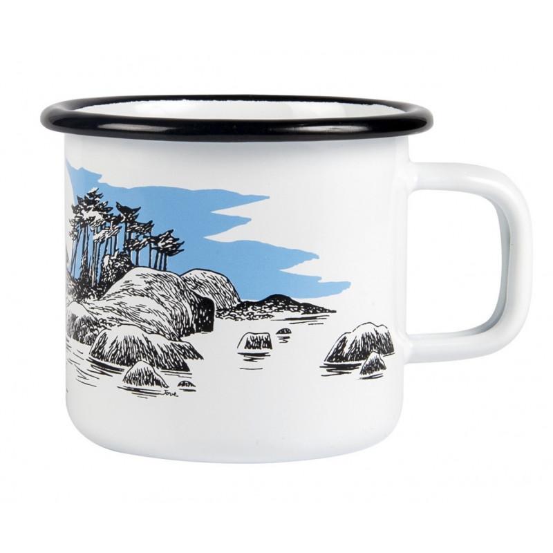 Moomin Enamel Mug Island 0.37 L