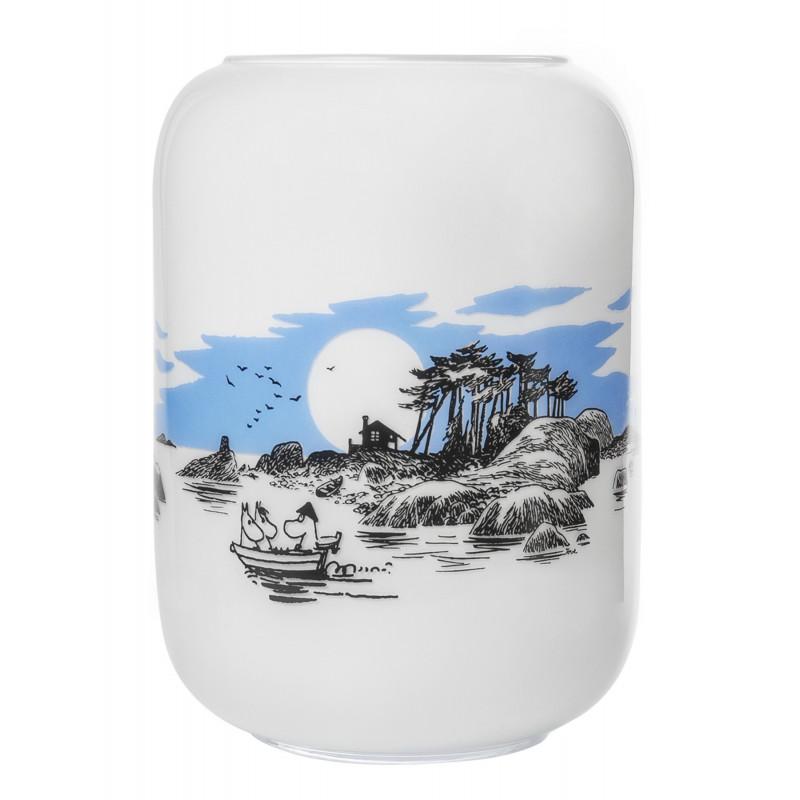 Moomin Vase 19 cm Island White