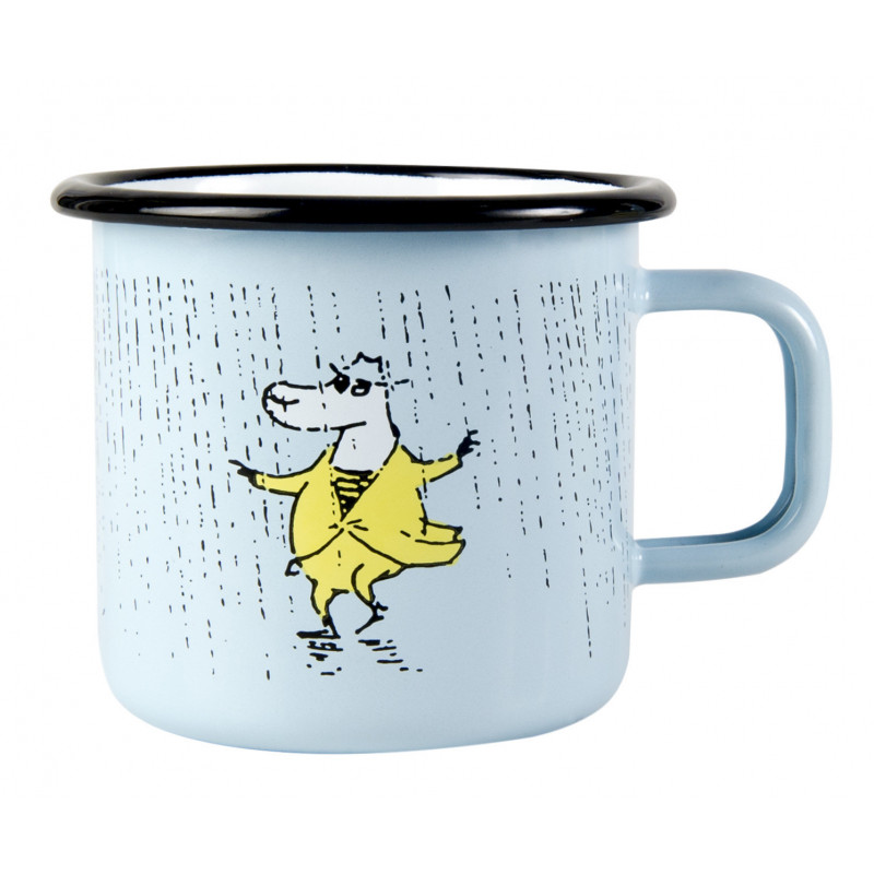 Moomin Makia Enamel Mug Rain 0.37 L