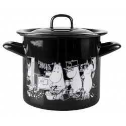 Moomin Enamel Casserole Moomins in the Kitchen 1.5 L